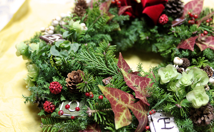 Wreath making for Christmas 2014